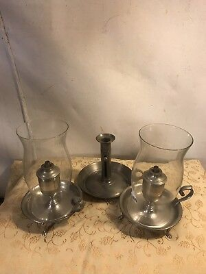 Lamps Shelly Whale Oil&push Up Candle Holder,Pewter.C6pics4Size&label.MAKE OFFER