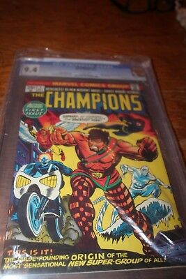 The Champions #1 Cgc 9.4 1975 Universal White Pages!!