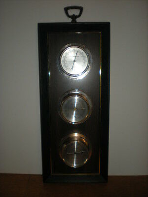 Thermometer Barometer Humidity Springfield Instrument Co Tempeture Wall Hanging