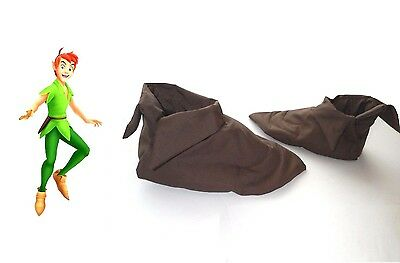 Shoe covers costume for Peter Pan boys 2T to ADULT OOAK custom made Halloween