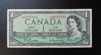 Canada (7102) 1961/72 1 Dollar Replacement Note (CBNC)