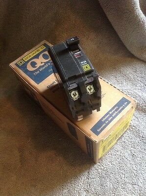 SQUARE D QO215 NEW CIRCUIT BREAKER PLUG-IN 15 AMP 2 POLE 120/240 VAC (Box Of 5)