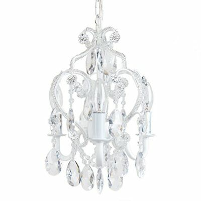 Tadpoles Three Bulb Chandelier White Diamond