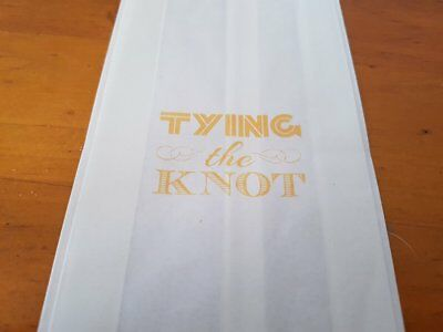 Set Of 12 Tying The Knot 14 X 8 Size White Cake Bags