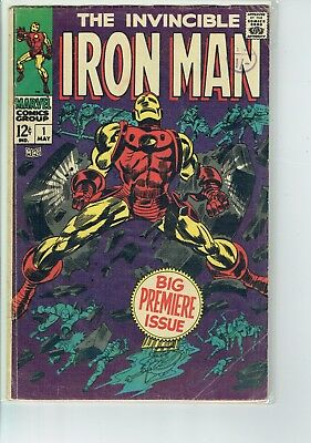Iron Man #1 1968 VG  Silver Age Key  STK2