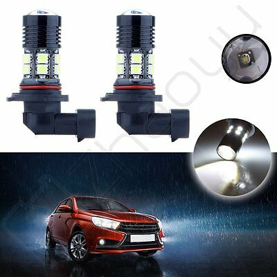 2x 3000LM 9006 Cree LED Xenon High Power 30W 12 SMD Fog Projector Light 12v