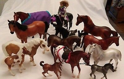 Lot of 13 Vintage and Retired Breyer Horses