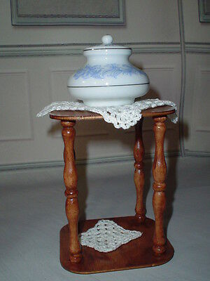OOAK Diorama Side Table Doily +  1:4 Scale Ellowyne Tyler BJD  Tonner Square
