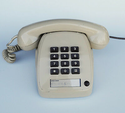 Vintage Telecom Push Button Touch Phone From 1983 Type 8051