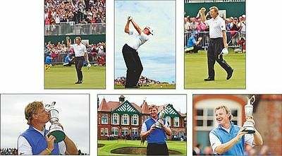 Ernie Els The offene Gewinner Golf 2012 Postkarte Set