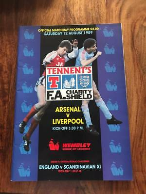 Arsenal V Liverpool 1989 Fa Charity Shield Programme Mint Free Postage Look