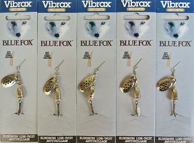 VIBRAX BLUE FOX FISHING LURES Size 1  Silver with black spots x  5