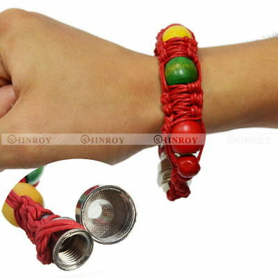 Portable  Metal Bracelet Smoking Pipe Jamaica Rasta Smoke Cigarette Pipes