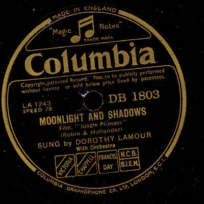 DOROTHY LAMOUR  -SCHAUSPIELERIN (1914-1996)- Moonlight and Shadows/Thanks..S2481