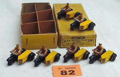 #82 Dinky trade box 270 of 6 A.A. motor cycle Patrol