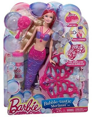 Barbie Bubble-Tastic Mermaid Doll Barbie Dolls Girls Toys Christmas Gifts NEW