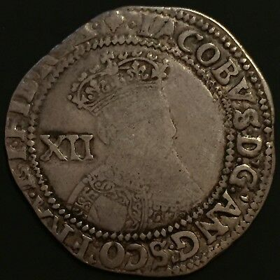 James I Shilling Second Coinage Grapes Mintmark