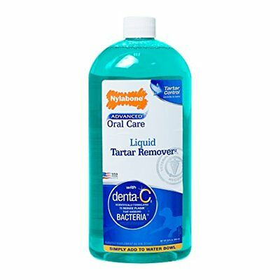 Advanced Oral Care Dog Cat Pet 32Oz Nylabone Liquid Tartar Remover Dental Fresh