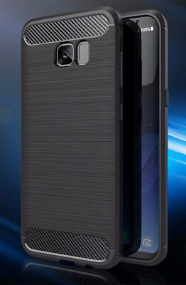 Black Carbon Fibber Textured Rugged Armor for Samsung Galaxy S7 Edge Case