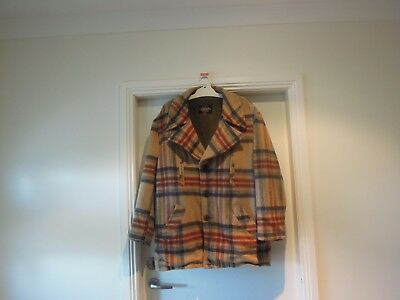 Mens Vintage Plaid Lumber Style Jacket By Grais Usa Large Size