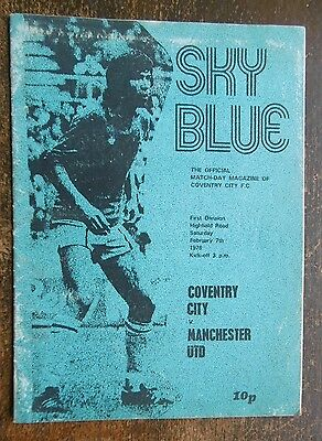 Coventry City V Manchester United Football Programme 7-2-1976