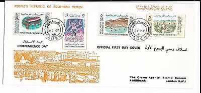 Yemen 1968 Independence Day Fdc. Long