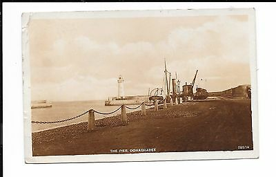 Ireland Ppc R/p The Pier With Donaghadee Skeleton Cds 24.8.1916