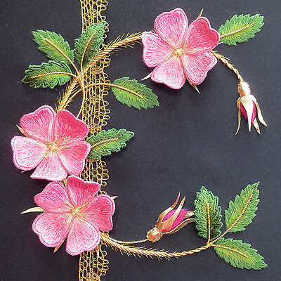 Roses and Old Lace Stumpwork Goldwork Embroidery Kit by Alison Cole Embroidery