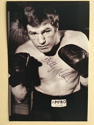 """Boxing Billy Walker signed 6"""" x 4"""" photograph"""