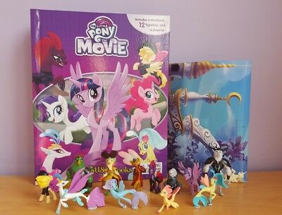 NEW My Little Pony MOVIE My Busy Book + 12 Character Figurines & Playmat