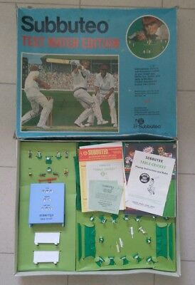 Vintage Subbuteo Test Match Edition Table Cricket Blue Version