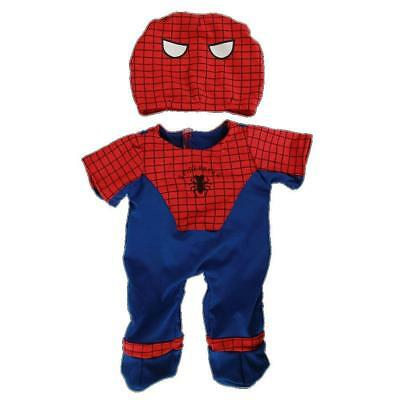 "SPIDERMAN SPIDER TEDDY BEAR  CUDDLES CLOTHES FOR 16""/40cm BUILD YOUR OWN BEARS"