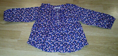 Next Baby Girl Long Sleeved Cotton Top Age 9-12 months - BNWT