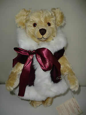 Herman 1996 Ltd Edt Mohair Christmas Teddy Bear & Certificate Label & Bag