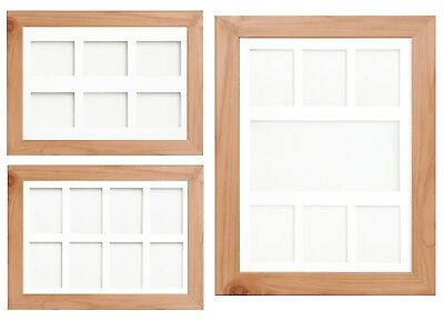 Pine Multi Aperture Photo Picture Frame & Mount With Choice Of 23 Mount Choices
