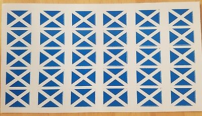 Small Scottish Saltire Stickers