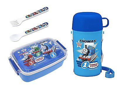 4 Thomas the Tank Engine Products – Lunch Box, Thermos with Cup, Spoon and Fork