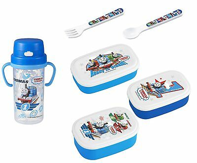 Thomas the Tank Engine Lunch Set - 3 Lunch Bento Boxes, Thermos with Handles,