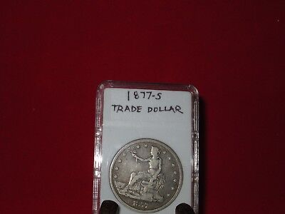 1877-S Trade Dollar F-VF Condition Great Coin!