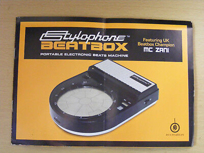Stylophone Beatbox beats machine