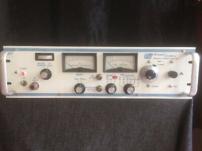 Vintage Microwave Systems Frequency Stability Analyzer Model Nos. SMS-1