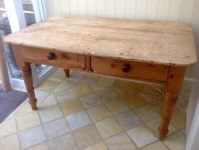 Victorian/Edwardian Pine Farmhouse Kitchen Table
