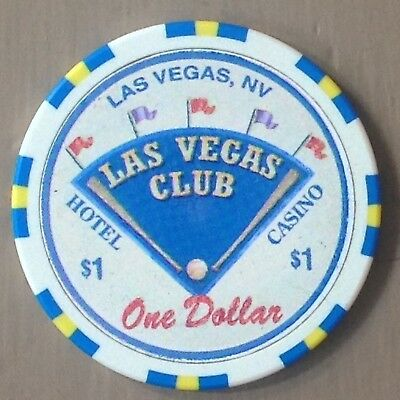 LAS VEGAS CLUB $1 Casino Chip Las Vegas Nevada USA