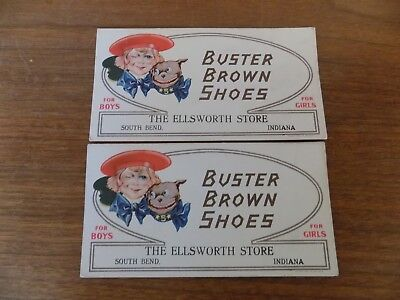Two Buster Brown Ink Blotters- The Ellsworth Store South Bend In.
