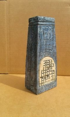 Troika Pottery Coffin Blue Vase