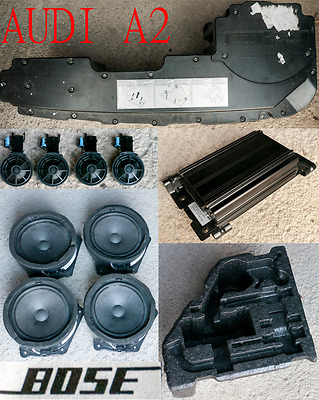 Audi A2 Factory Bose Sound System Speakers Tweeters Amplifier Amp Sub Woofer