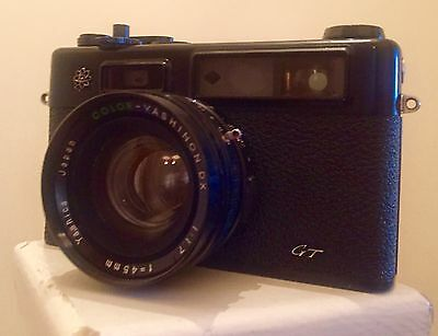Yashica Electro 35 GT 35mm Japan Rangefinder Film Camera  with 45mm lens