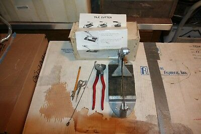 """Tile Cutter """"Mini Cutter"""" with compass; nipper & diamond blade for hack-saw"""