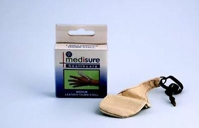 Medium Medisure Leather Finger Stall Sprain Injury Support Protection First Aid