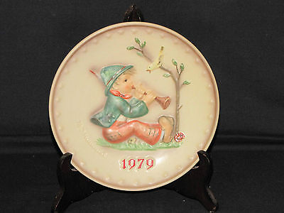 Vintage Goebel 1979 Hummel 9th Annual Collectors Plate, Hum 272 Singing Lesson